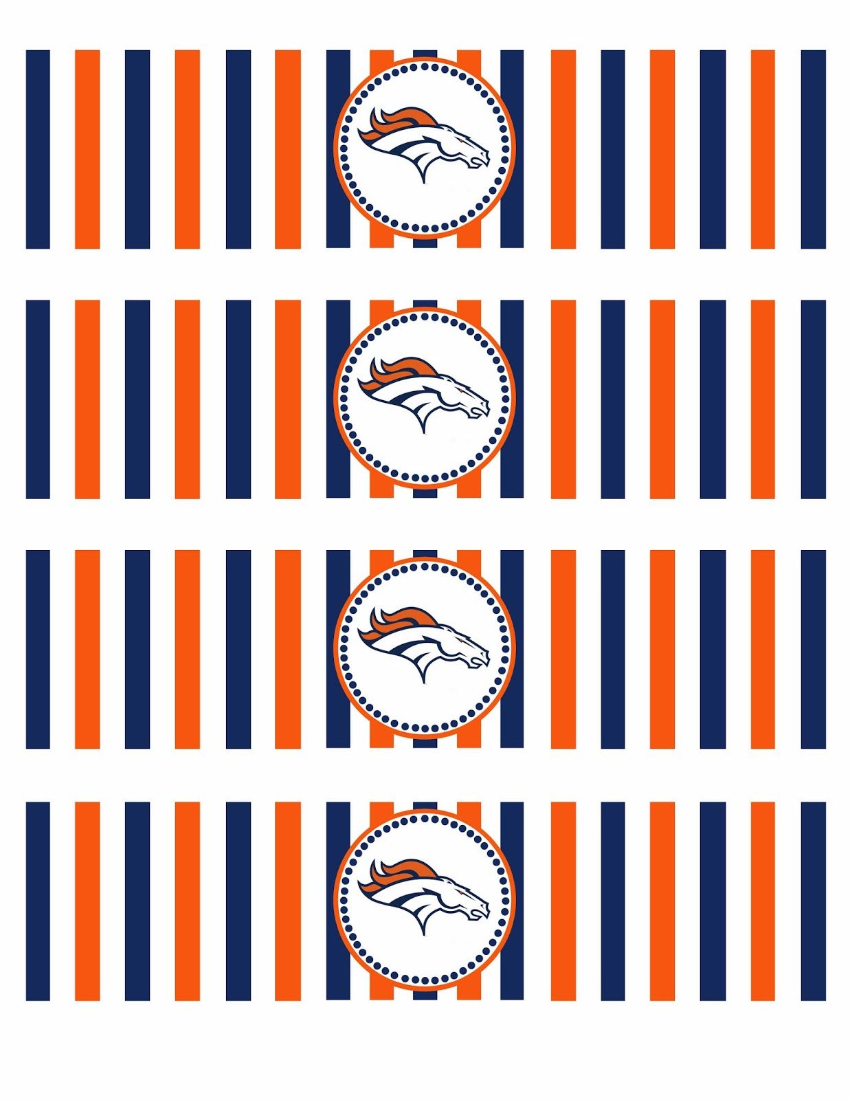 Denver Broncos Printables | Life In a Larger Story | Football Party ...