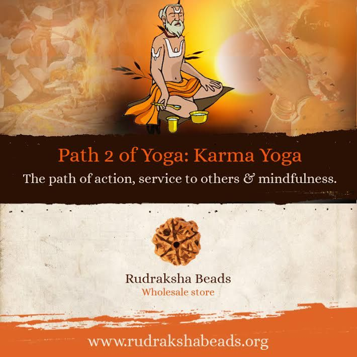 Karma Yoga is the Yoga of Action. It purifies the heart by teaching you to act selflessly, without thought of gain or reward. #RudrakshaBeads #Spirituality