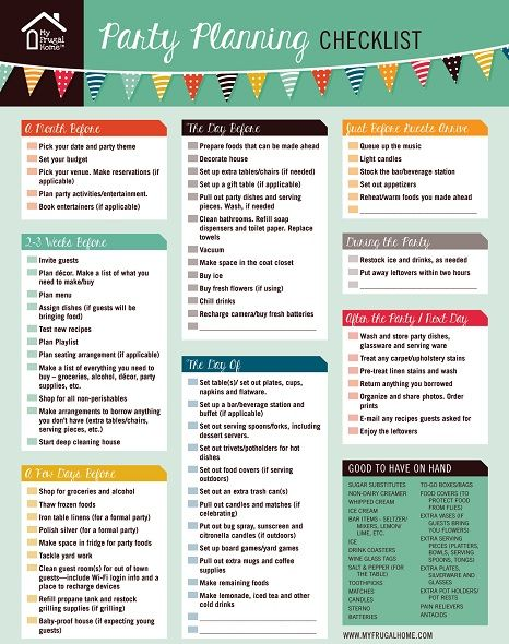 party planner checklist template - zrom