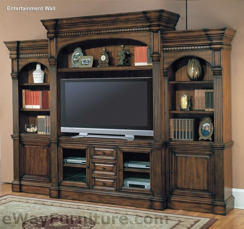 New Wood 65 Entertainment Wall TV Media Center Furniture