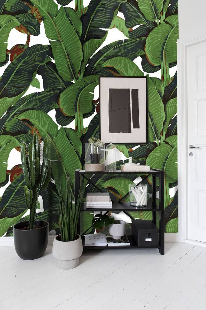 Best Banana Leaves Martinique Wallpaper Bedroom Wallpaper 400 x 300