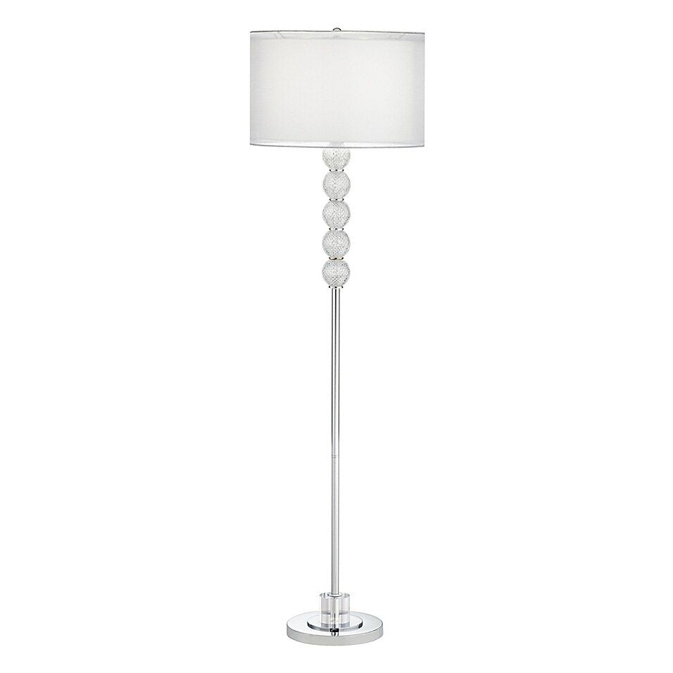 Paciific Coast Lighting Chelsea Faceted Glass Ball Floor Lamp In Silver Bed Bath Beyond Glass Standing Lamp Floor Lamp Glass Ball