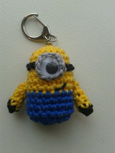Minion Sleutelhanger Haken Crochet Minion Keychain Haken