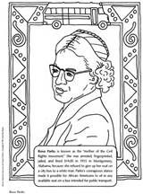 Print Out And Color A Picture Of Rosa Parks Celebrate Black History Month Black History Activities Black History Month Crafts