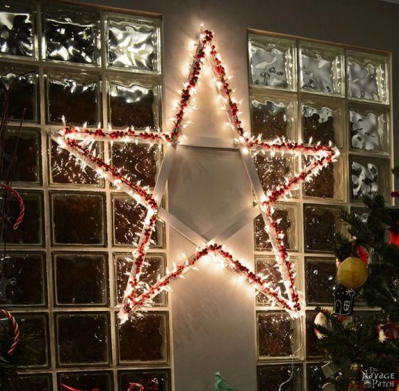 DiY Lighted Christmas Stars Diy Christmas decoration Festive Diy