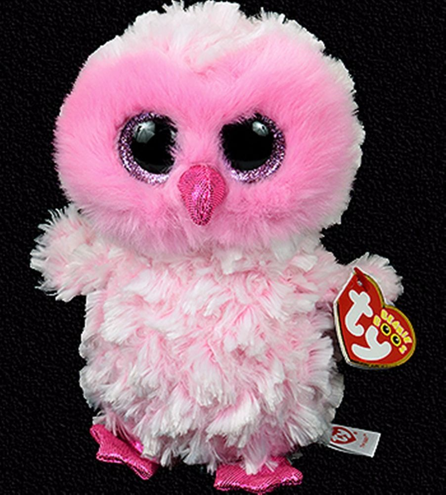 TWIGGY the Pink Owl 15 CM Regular size Ty Beanie Boos NEW arrival ... 5469e20bd169