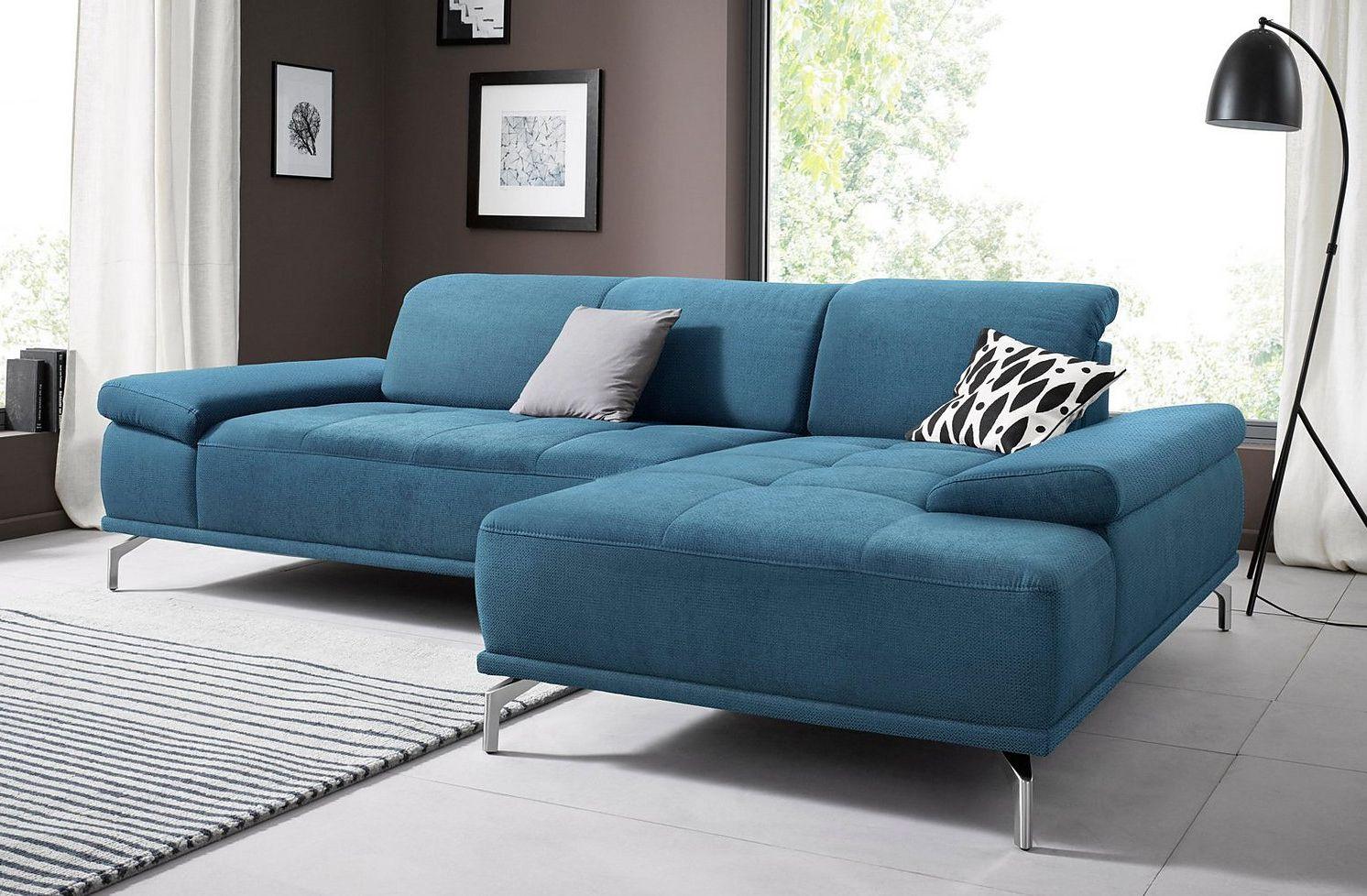 Places of Style Ecksofa Caluna mit Sitztiefen und