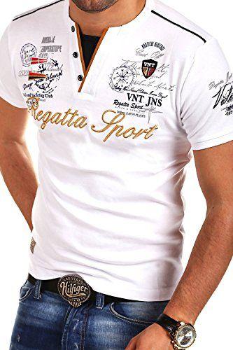f90d6875 MT Styles 2in1 T-Shirt REGARD Polo R-2739 [Weiß, 4XL] | Men´s Summer ...