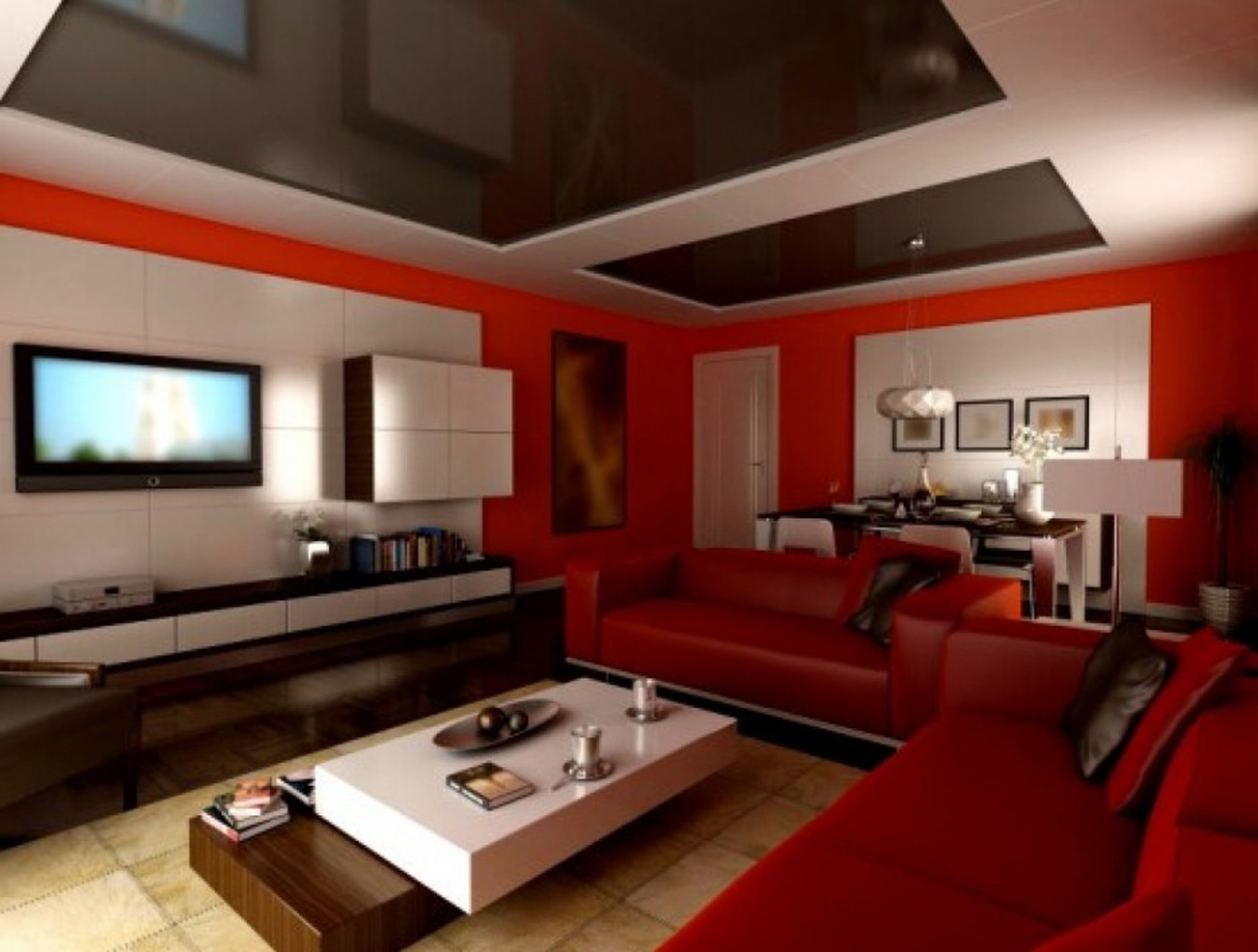 Living Room Color Red - Lavita Home
