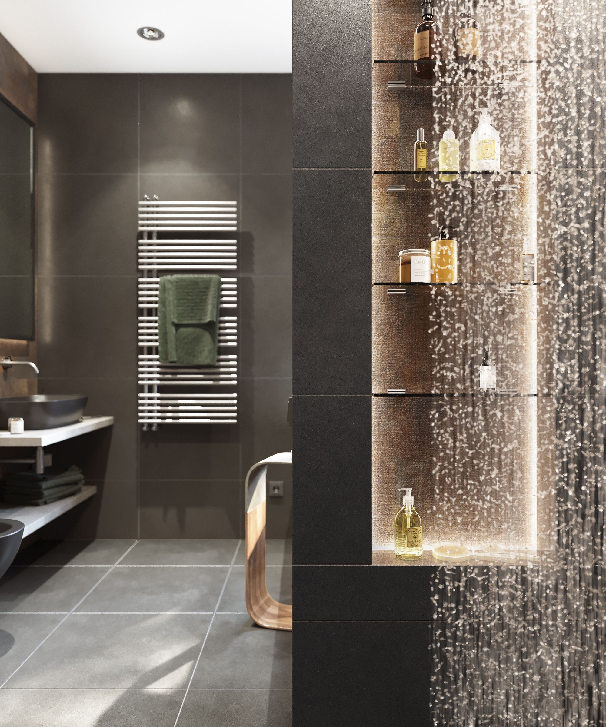 Bathroom in 2020 Colorful apartment, Interior