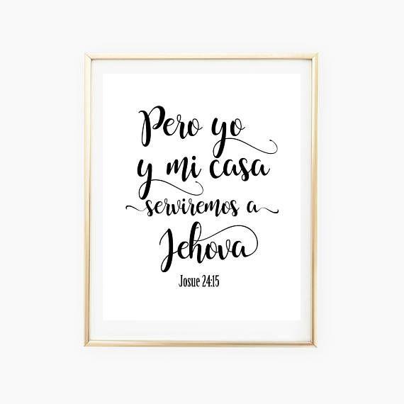 Joshua 24 15 Spanish Bible Verse Biblical Spanish Print Spanish ...
