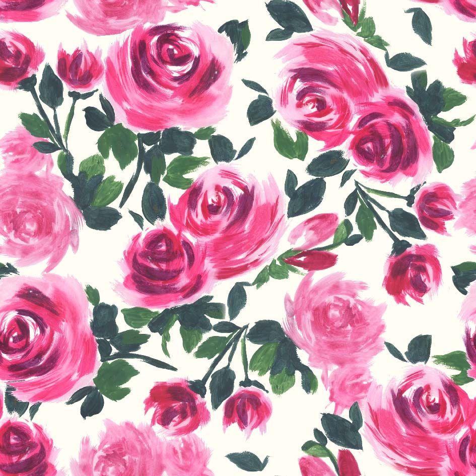 Laura Mysak Estampas florais, Flores em aquarela, Estampas