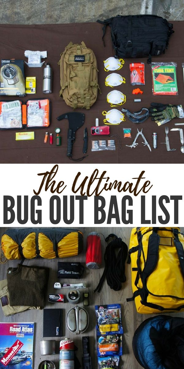 The Ultimate Bug Out Bag List This Article Comes With An Incredible Base Tool For Building A Bugout It Takes Into Consideration Every Preppers