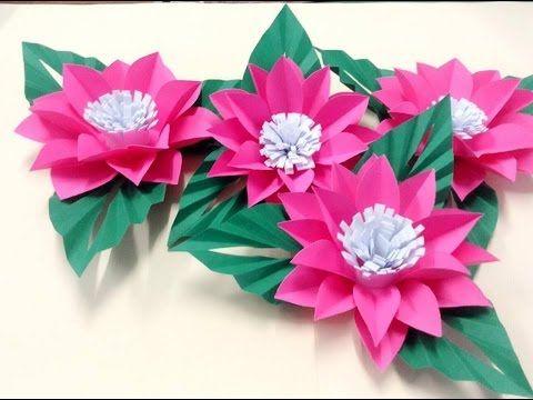 Origami Bells Flower Youtube Origami Flowers