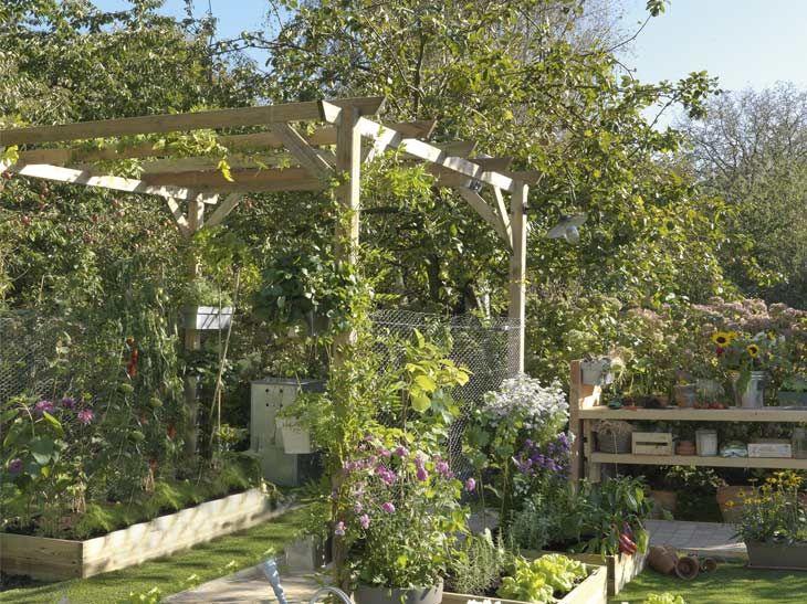 Ambiance Tamisee La Tonnelle Fait Son Entree Leroy Merlin Jardin Pour Enfants Treillis Jardin Figuier