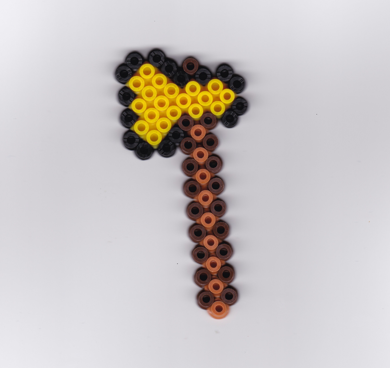 Strijkkralen Hama Beads Minecraft Bijl Strijkkralen Hama