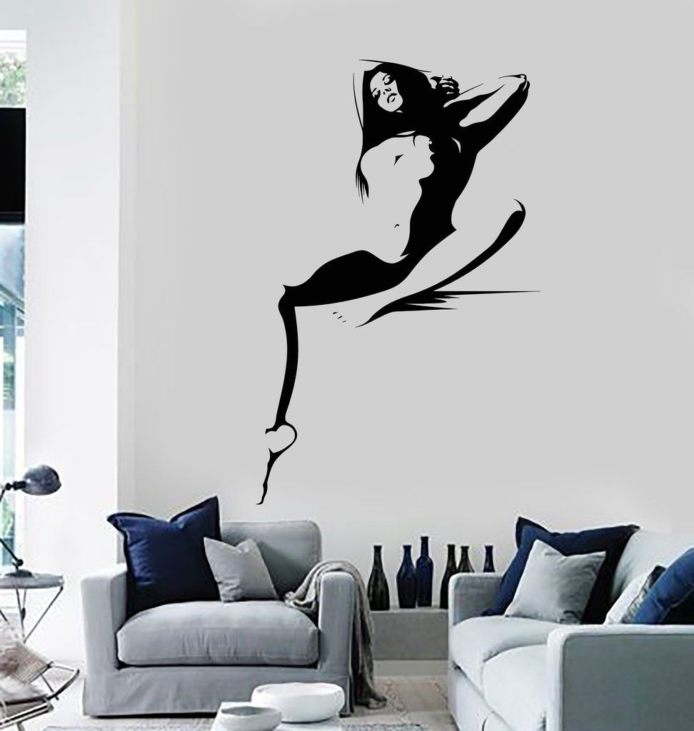 Vinyl Wall Decal Hot Sexy Woman Naked Girl Adult Decor Stickers - Wall stickershuhushopxaudrey hepburn beautiful eyes removable