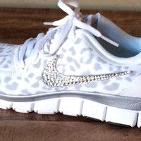 nike leopard crystal
