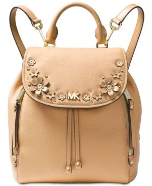 322970e543cb6c Michael Michael Kors Evie Small Flower Garden Backpack - Tan/Beige ...