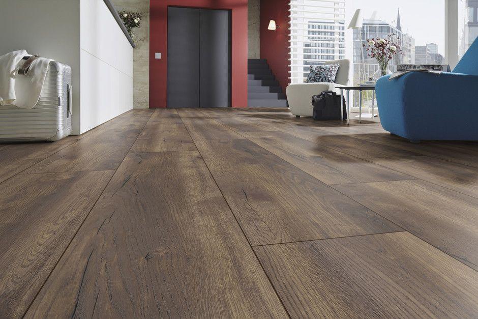 פרקט למינציה אלון מעושן טבעי קרונוטקס Kronotex Hardwood Floors Hardwood Flooring