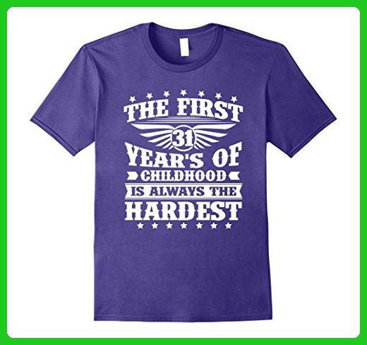Mens Amazing T Shirt For Women Men 31 Year Old Birthday Gifts Medium Purple