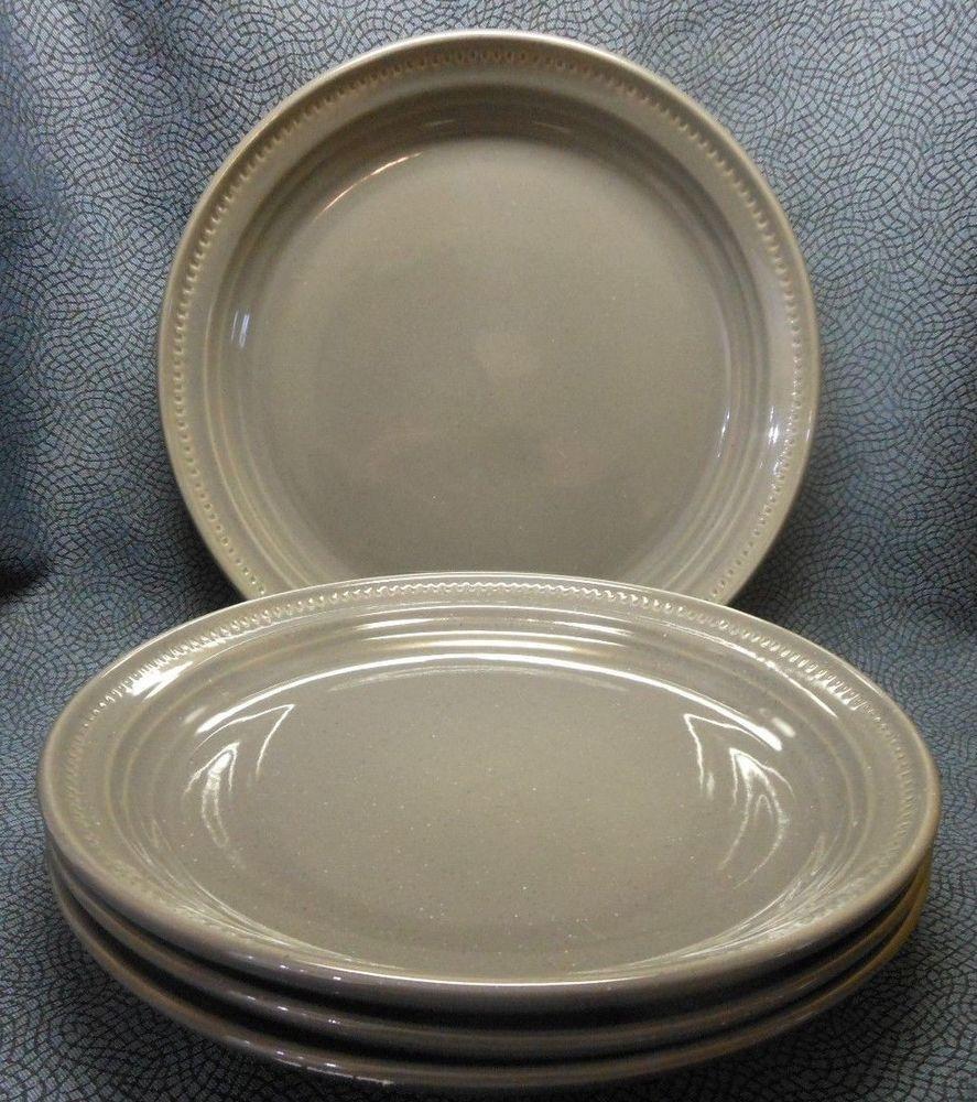 4 Pcs Dansk Craft Colors  Stone  Dinner Plates 10-3/8  EUC & 4 Pcs Dansk Craft Colors