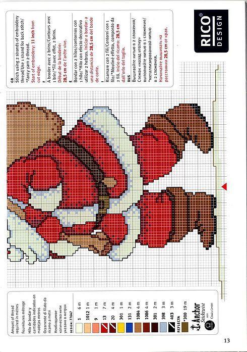 Cross Stitch *<3* Christmas Schema punto croce Babbo Natale 03
