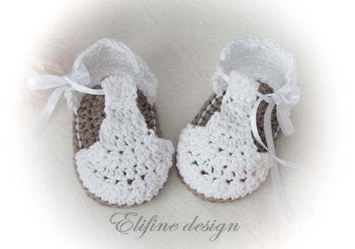 CROCHET PATTERN, crochet baby booties no34,crochet baby sandals ...