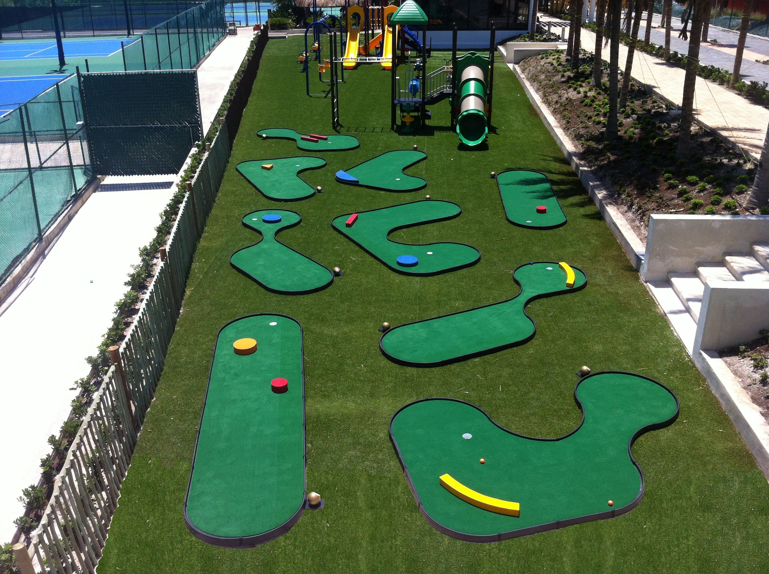 Image result for mini golf obstacle ideas Miniature golf