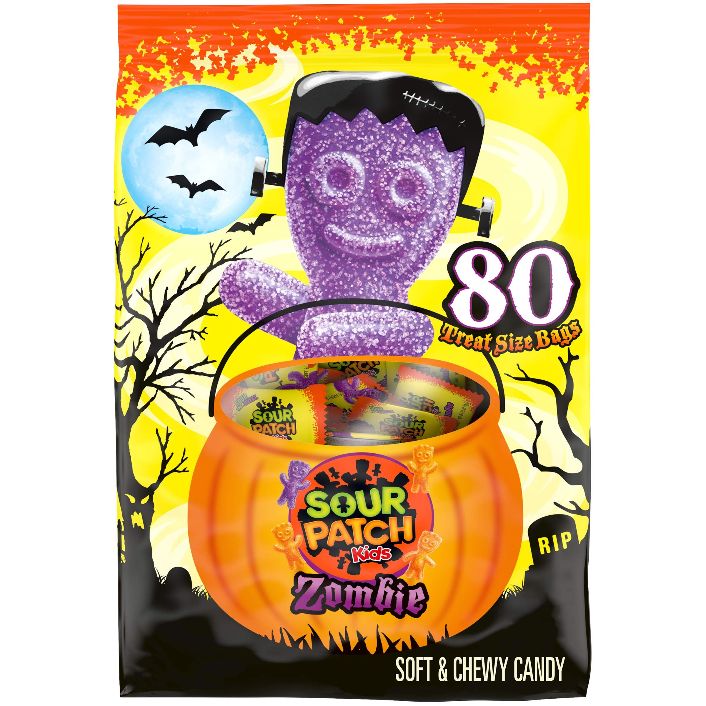 Sour Patch Kids Zombie Halloween Candy 80 Trick Or Treat Size Packs 0 5 Oz Halloween Party Supplies Sour Patch Kids Sour Patch Halloween Treats For Kids