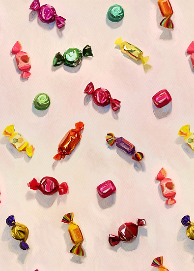 Sweet Candy Painted Pattern by micklyn on Redbubble