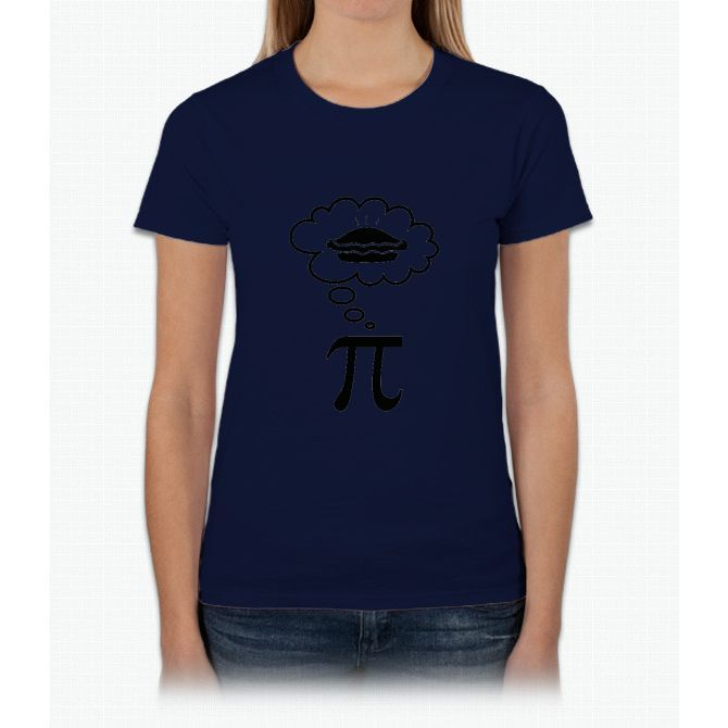 Thinking about pie Womens T-Shirt