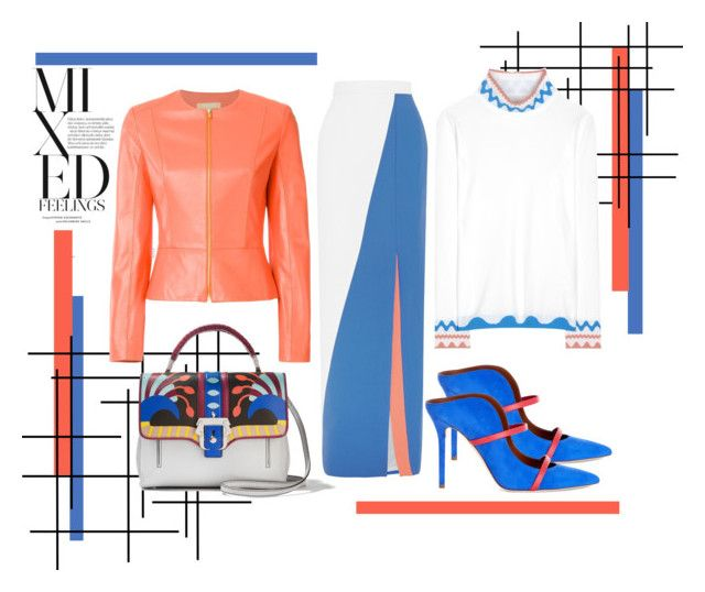 """""""Full Contrast"""" by gabrilungu ❤ liked on Polyvore featuring Roksanda, Peter Pilotto, Michael Kors, Malone Souliers, Paula Cademartori, women's clothing, women, female, woman and misses"""