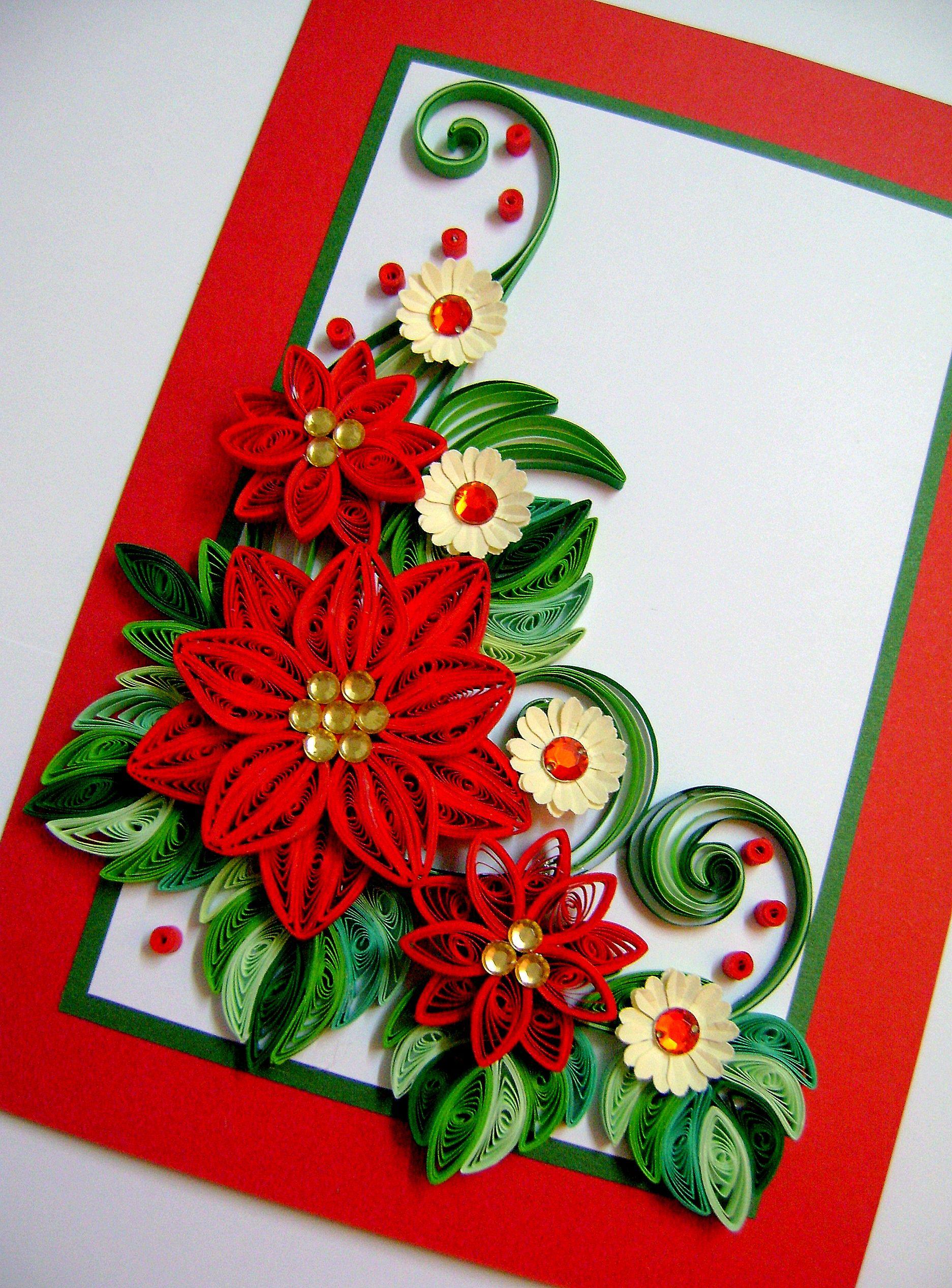 Поделки из квиллинга открытка