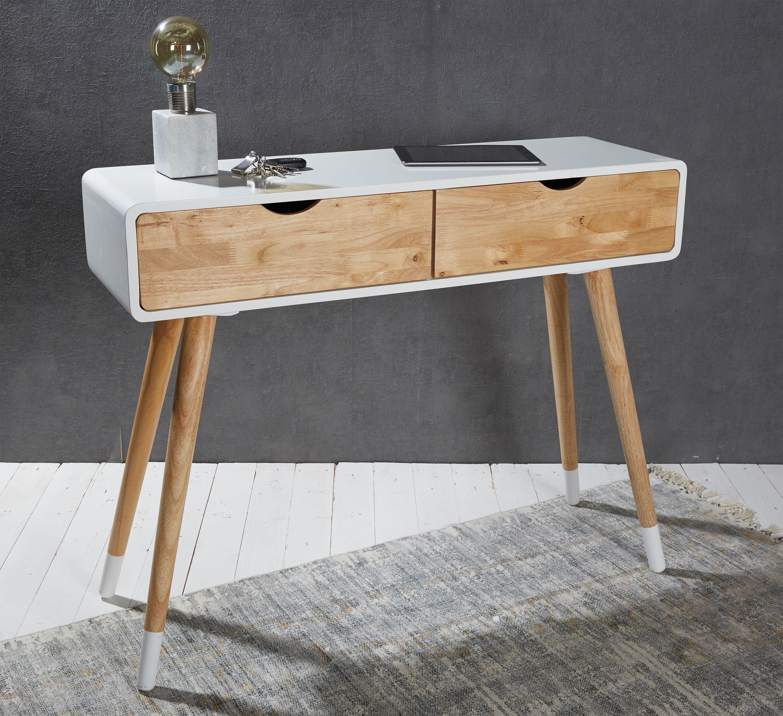 Formvollendung auf Skandinavisch moderne Konsole mit zwei Schubladen Bietet viel Stauraum und das das