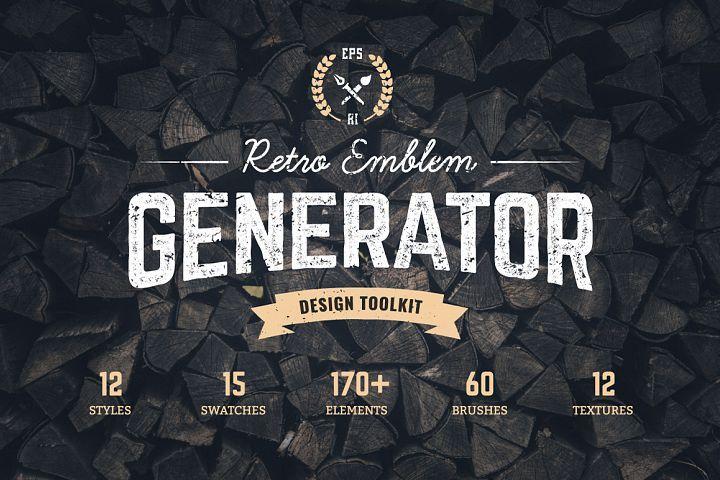 Logo Maker Retro Emblem Generator 2072 Logos Design Bundles Logo Maker Retro Logo Design
