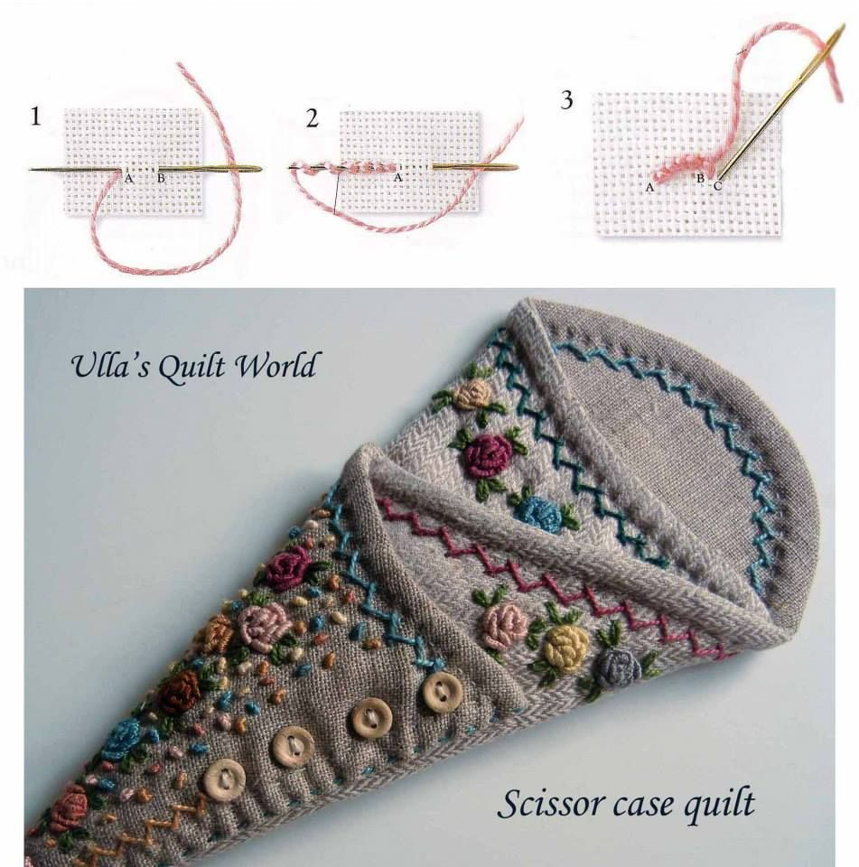 Scissor case quilt + PATTERN by Ulla's Quilt World