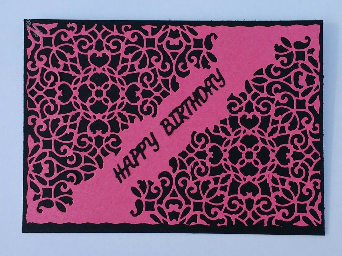 Birthday card made using sizzix mixed media dies cf tim holts