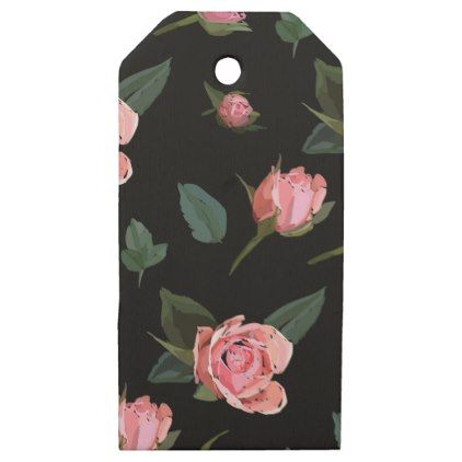 Roses flowers wooden gift tags negle Choice Image