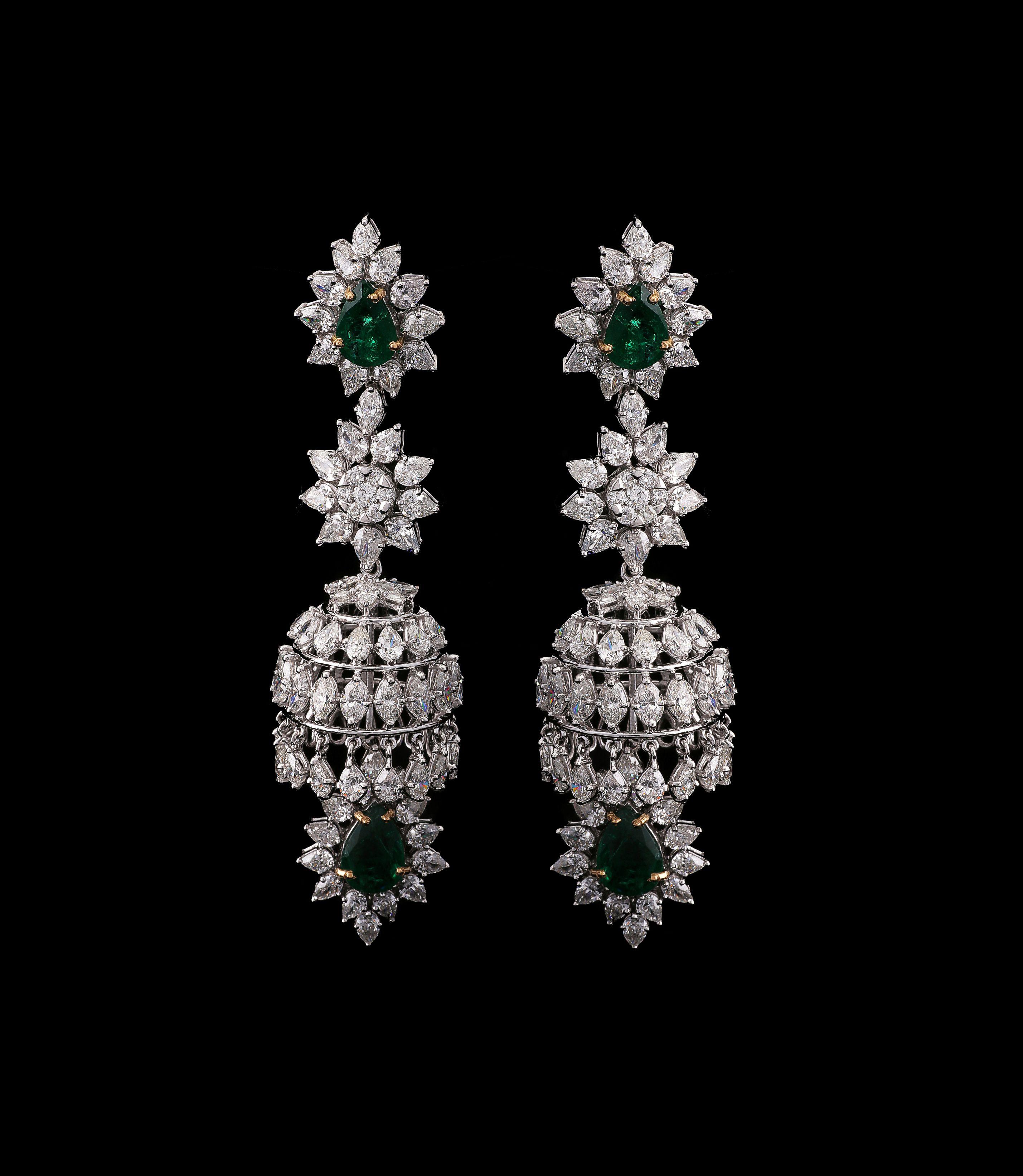 Chandelier Earrings - Sparkling diamonds emit radiant light | A ...