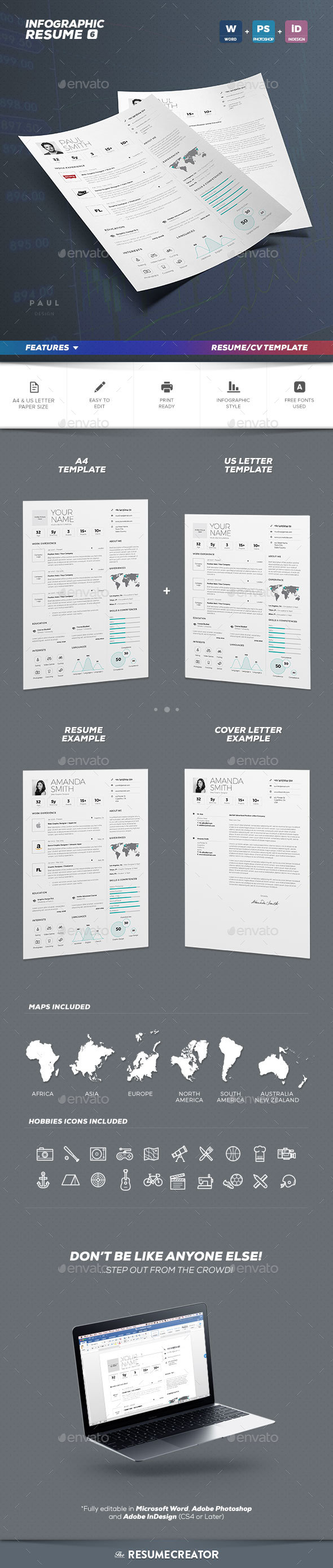 Infographic Resume Cv Volume 6
