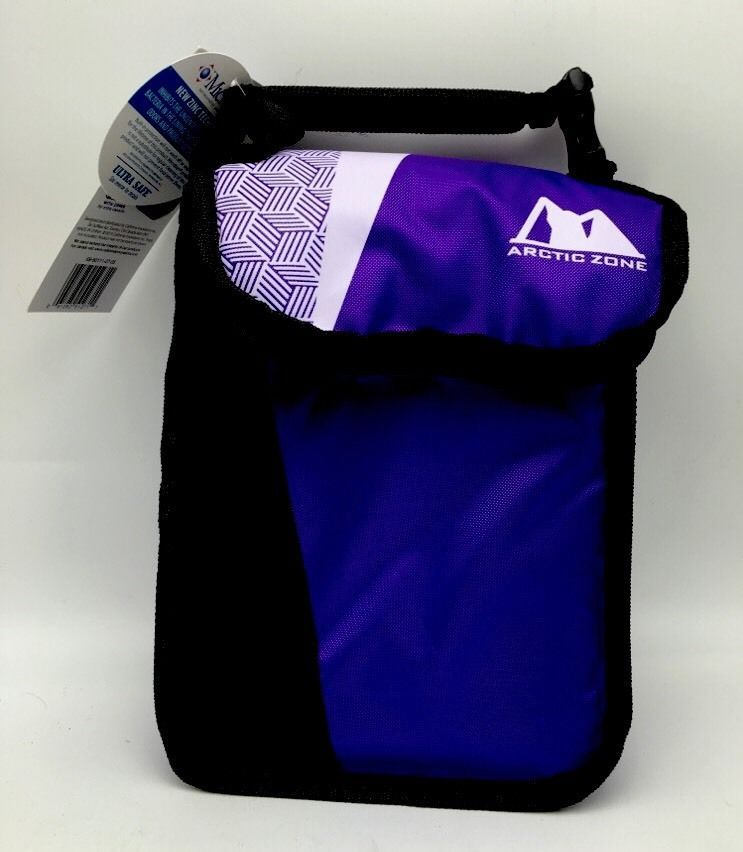 Insulated lunch bag arctic zone shoulder strap soft box