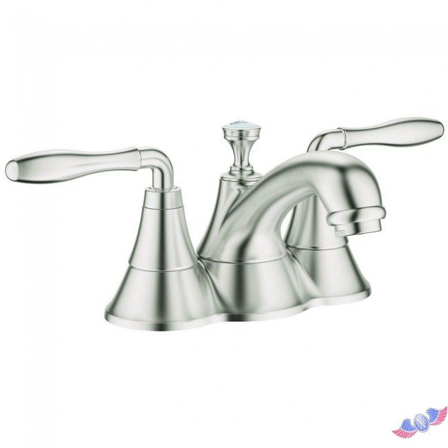 Seabury 4 in. Centerset 2-Handle Lavatory Faucet in Brushed Nickel-Infinity Finish