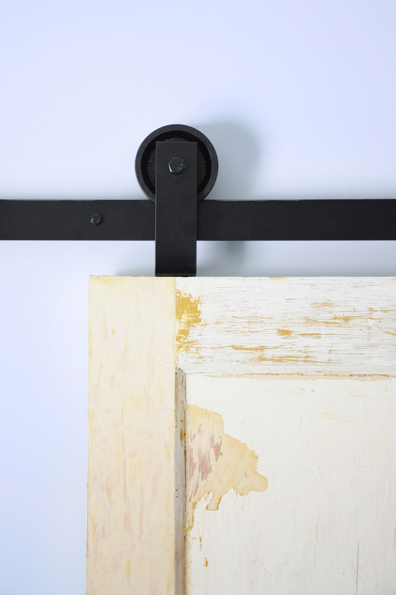 Top mount barn door hardware minimalist design For the Home