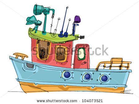 Fishing Boat Cartoon fish-boat - car...