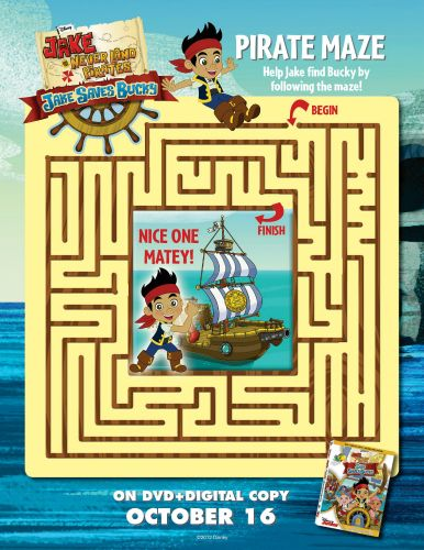 Jake And The Neverland Pirates Printable Maze Printable Coloring