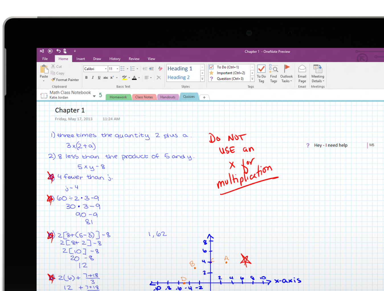 OneNote Class Notebook With images Interactive student