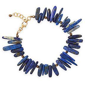 14K GF Lapis and Czech Bead Bracelet by james sanders fine jewelry on Opensky