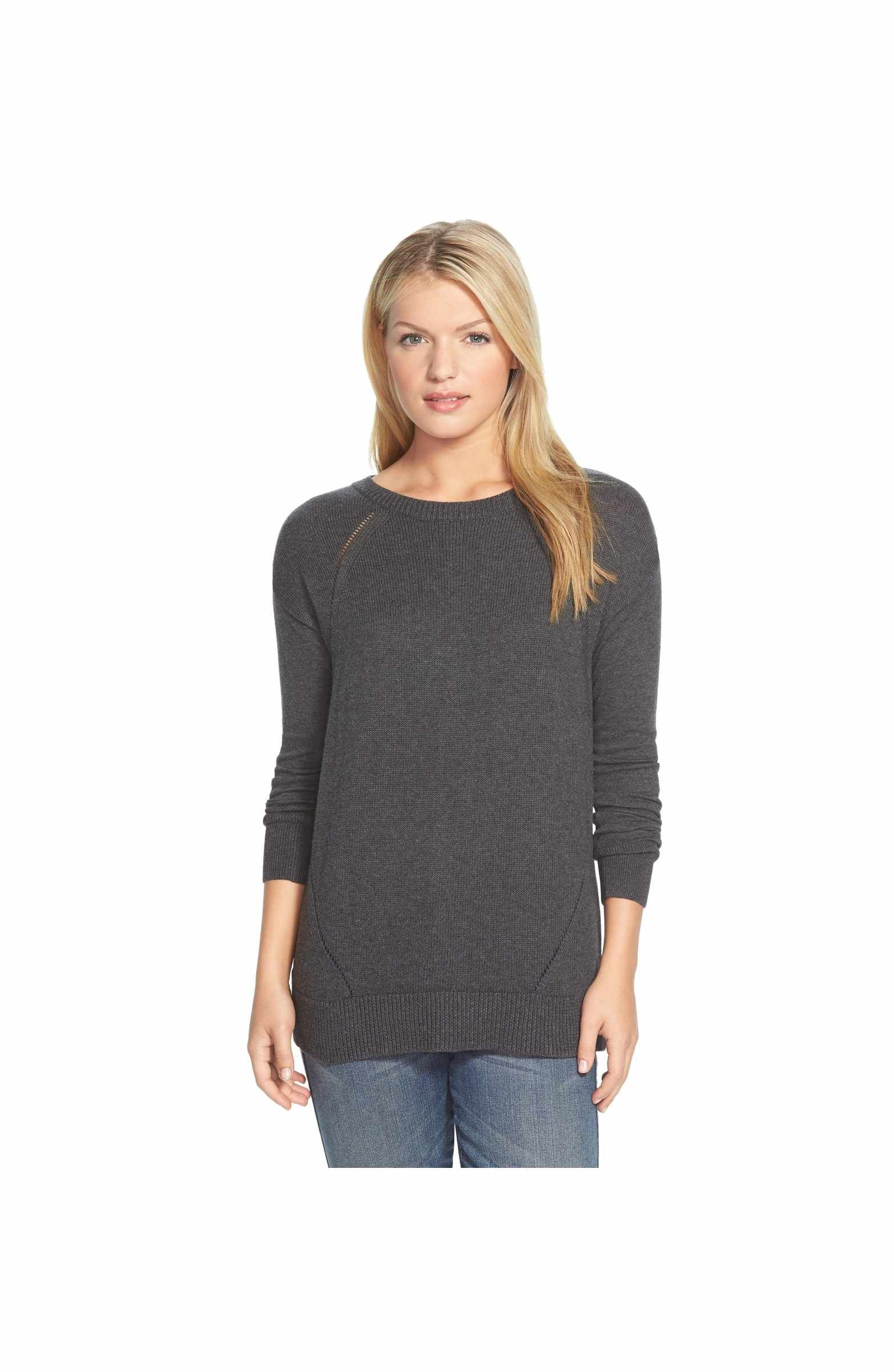 Button Back Tunic Sweater