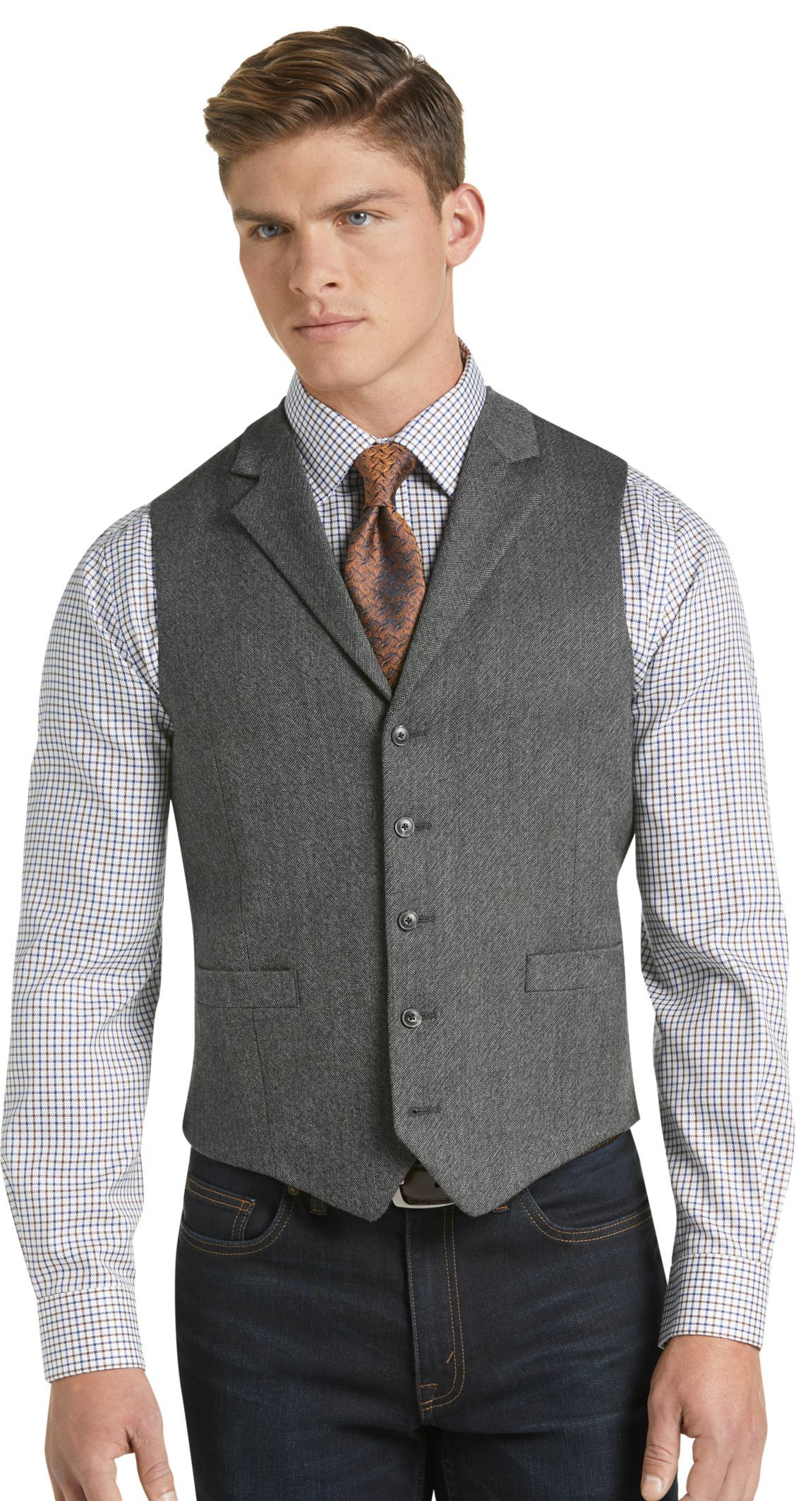 Check this out! 1905 Collection Tailored Fit Donegal Vest
